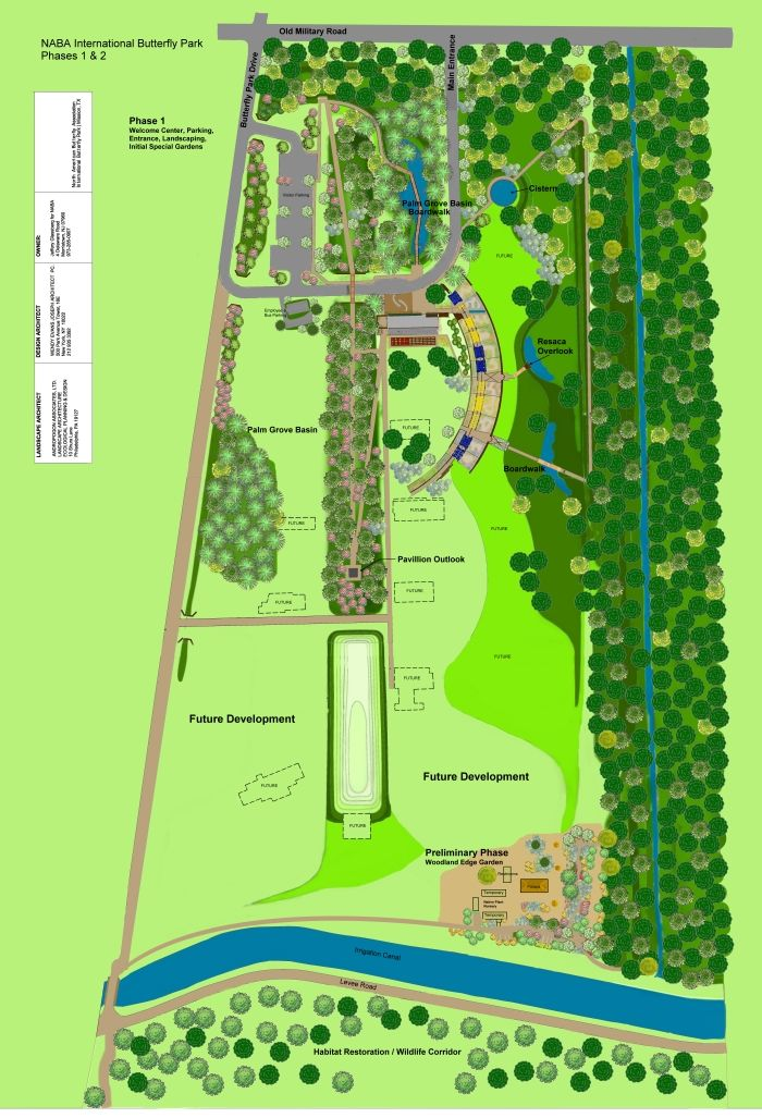 Click Here To See A Master Plan Layout For Phases 1 U0026 2 Of The National  Butterfly Center.
